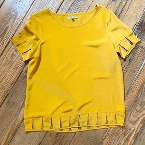 Madewell Broadway & Broome Yellow Silk Shirt Large